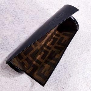 Fendi Roma Monogram Hard Triangular Glasses Case